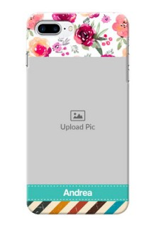 iPhone 8 Plus Personalized Mobile Cases: Watercolor Floral Design
