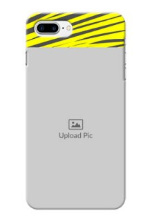 iPhone 8 Plus Personalised mobile covers: Yellow Abstract Design