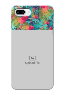 iPhone 8 Plus Personalized Phone Cases: Watercolor Floral Design