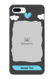 iPhone 8 Plus Mobile Back Covers: splashes with love doodles Design