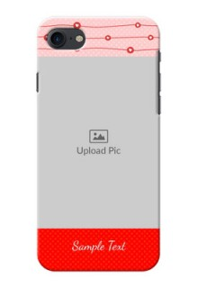 Apple iPhone 8 Red Pattern Mobile Case Design