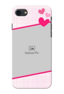 Apple iPhone 8 Pink Design With Pattern Mobile Cover Design