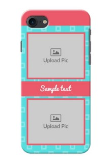 Apple iPhone 8 Pink And Blue Pattern Mobile Case Design