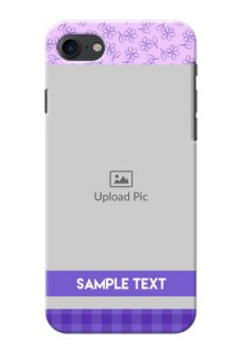 Apple iPhone 8 Floral Design Purple Pattern Mobile Cover Design