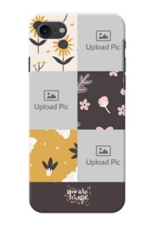 iPhone 8 phone cases online: 3 Images with Floral Design