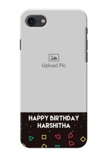 iPhone 8 custom mobile cases with confetti birthday design