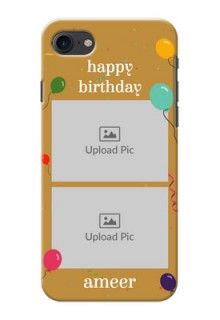 iPhone 8 Phone Covers: Image Holder with Birthday Celebrations Design