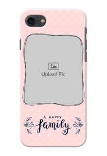 iPhone 8 Personalized Phone Cases: Family with Dots Design