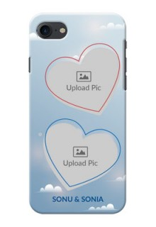 iPhone 8 Phone Cases: Blue Color Couple Design