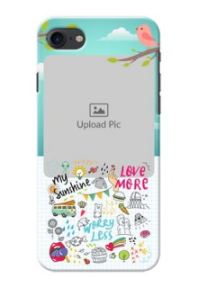 iPhone 8 phone cases online: Doodle love Design