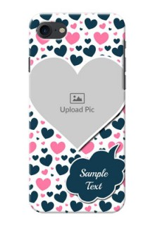 iPhone SE 2020 Mobile Covers Online: Pink & Blue Heart Design