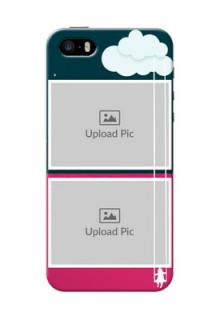 Apple iPhone SE Cute Girl Abstract Mobile Case Design