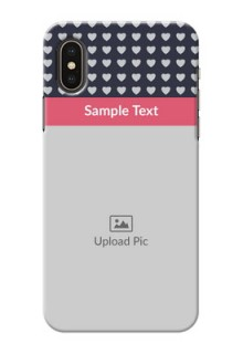 iPhone X Custom Mobile Case with Love Symbols Design