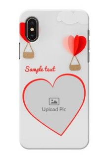iPhone X Phone Covers: Parachute Love Design