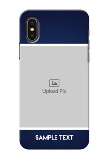 iPhone X Mobile Cases: Simple Royal Blue Design