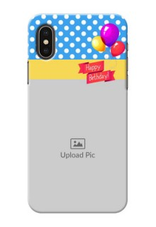 iPhone X custom mobile back covers: Happy Birthday Design