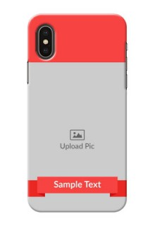 iPhone X Personalised mobile covers: Simple Red Color Design