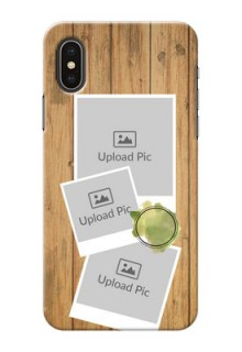 iPhone X Custom Mobile Phone Covers: Wooden Texture Design