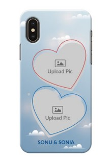 iPhone X Phone Cases: Blue Color Couple Design