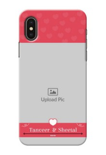 iPhone X Mobile Cases: Simple Love Design
