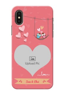 iPhone X custom phone covers: Peach Color Love Design