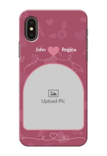 iPhone X mobile phone covers: Love Floral Design