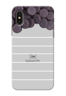 iPhone X Custom Mobile Covers with Oreo Biscuit Design