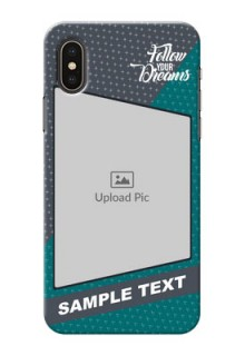 iPhone X Back Covers: Background Pattern Design with Quote
