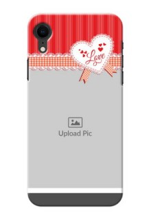 Apple Iphone XR phone cases online: Red Love Pattern Design