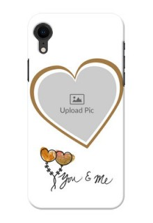 Apple Iphone XR customized phone cases: You & Me Design