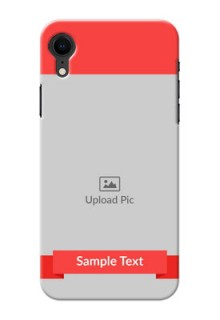 Apple Iphone XR Personalised mobile covers: Simple Red Color Design
