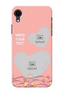 Apple Iphone XR customized phone cases: Love Doodle Design