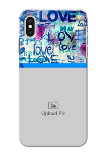 iPhone XS Max Mobile Covers Online: Colorful Love Design
