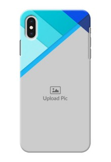 iPhone XS Max Phone Cases Online: Blue Abstract Cover Design