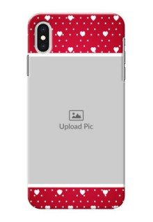 iPhone XS Max custom back covers: Hearts Mobile Case Design