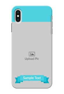 iPhone XS Max Personalized Mobile Covers: Simple Blue Color Design