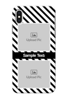 iPhone XS Max Back Covers: Black And White Stripes Design