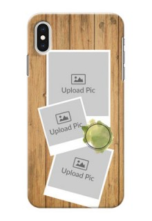 iPhone XS Max Custom Mobile Phone Covers: Wooden Texture Design
