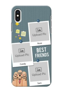 iPhone XS Max Mobile Cases: Sticky Frames and Friendship Design