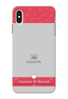 iPhone XS Max Mobile Cases: Simple Love Design