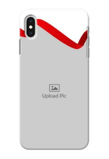 iPhone XS Max custom phone cases: Red Ribbon Frame Design