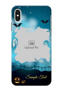 iPhone XS Max Personalised Phone Cases: Halloween frame design
