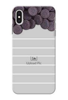 iPhone XS Max Custom Mobile Covers with Oreo Biscuit Design