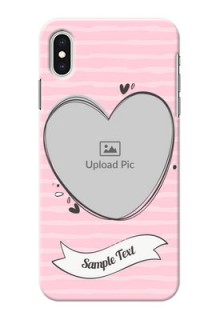 iPhone XS Max custom mobile phone covers: Vintage Heart Design
