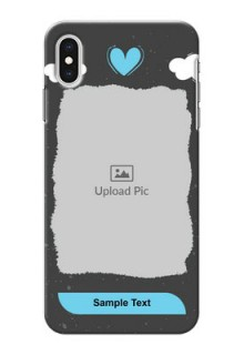 iPhone XS Max Mobile Back Covers: splashes with love doodles Design