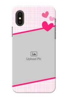 iPhone XS Personalised Phone Cases: Love Shape Heart Design