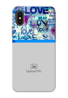 iPhone XS Mobile Covers Online: Colorful Love Design
