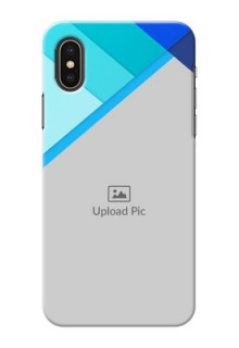 iPhone XS Phone Cases Online: Blue Abstract Cover Design