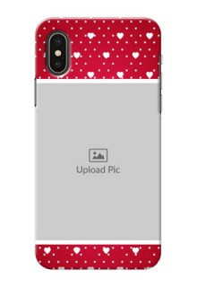 iPhone XS custom back covers: Hearts Mobile Case Design