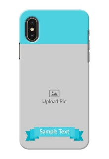 iPhone XS Personalized Mobile Covers: Simple Blue Color Design